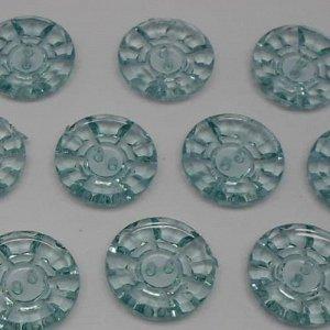 Пуговицы 25 мм, цвет голубой (10 шт)