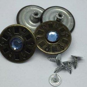 Джинсовые пуговицы №26, 25 мм (50 шт)