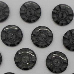 Пуговицы 20 мм, цвет черный (10 шт)