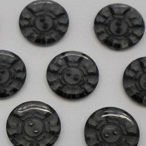 Пуговицы 25 мм, цвет черный (10 шт)