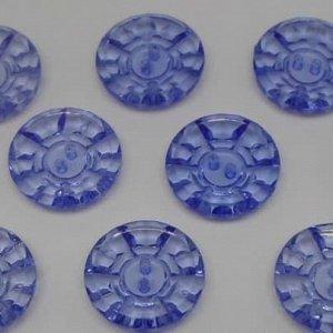 Пуговицы 25 мм, цвет синий (10 шт)