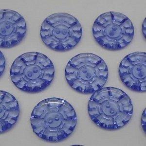 Пуговицы 20 мм, цвет синий (10 шт)