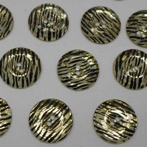 Пуговицы 25 мм, цвет золото (10 шт)