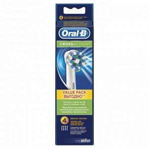 ORAL_B Насадка для электрической зубной щетки CrossAction EB50-4 4шт