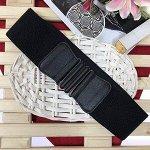 Ремень-резинка Farfalla Nera из качественного текстиля чёрного цвета
