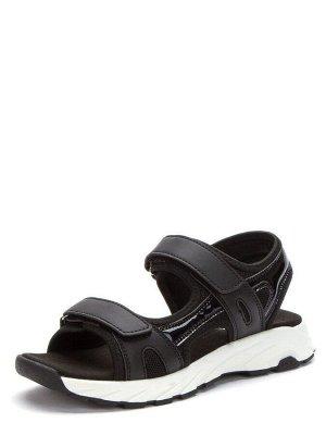 417402/03-02 черный иск.кожа/текстиль женские туфли открытые