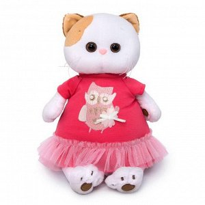 Мягкая игрушка BUDI BASA Кошка Ли-Ли в платье с совой 24 см4