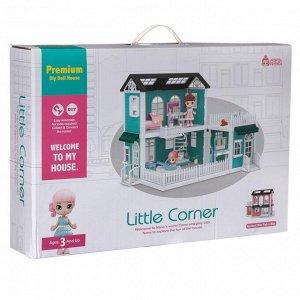 Игровой набор ABtoys Модульный домик (собери сам), 8 секций. Мини-куколки с питомцами на кухне, в ванной, в столовой, в наборе с аксессуарами1