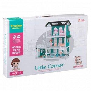 Игровой набор ABtoys Модульный домик (собери сам), 8 секций. Мини-куколки с питомцами в гостинной, в столовой, на кухне, в наборе с аксессуарами1