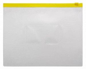 Папка на молнии ZIP Бюрократ -BPM5AYEL A5 0.15мм карм.для визит. цвет молнии желтый КРАТНО 12
