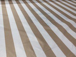Уличная ткань Oxford Белый-Бежевый (полоса)