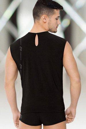 Костюм мужской SoftLine Collection (майка, шорты), чёрный, XL