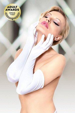 Перчатки длинные SoftLine Collection, белый, S/L