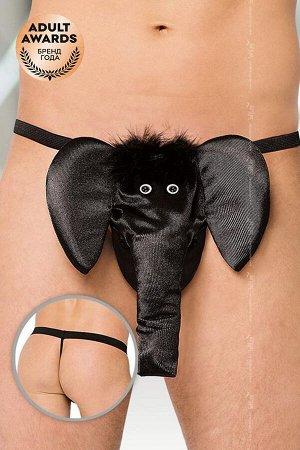 Стринги мужские Слон SoftLine Collection, черный, S/L