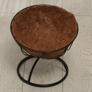 Кашпо напольное, d = 36 см, с кокосовым вкладышем