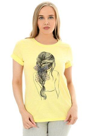 Футболка женская арт. Фут-27 цвет желтый