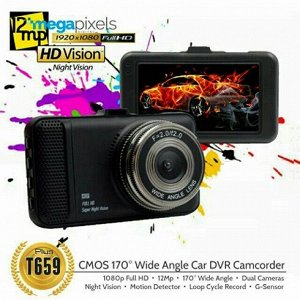 Автомобильный видеорегистратор Vehicle Blackbox DVR T659 1080 Full HD
