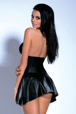 Платье на молнии и стринги Candy Girl Maya черные, OS