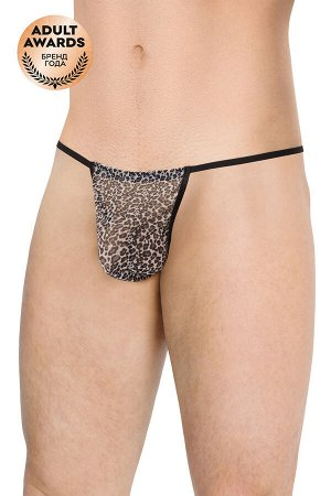 Стринги мужские из сетки Леопард SoftLine Collection, леопардовый, OS