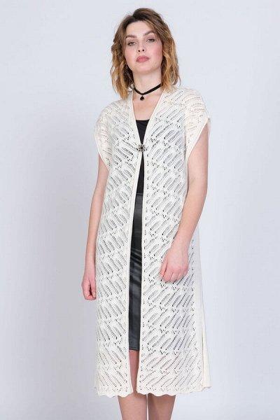Женская одежда, вязаный трикотаж от фабрики Стиль — Женские жилеты — Жилеты