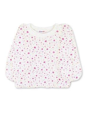 Распашонка ЦВЕТ: Белый, Розовый; РИСУНОК: Звёзды; СОСТАВ: Хлопок 100%; МАТЕРИАЛ: Интерлок Очаровательная распашонка для малыша, изготовленная из 100% хлопка - интерлока. Распашонка застёгивается на кн