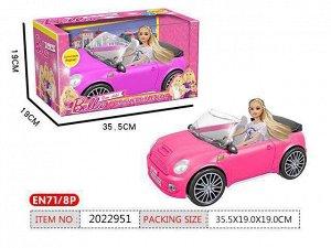 Кукла 368-A1R в кабриолете в кор.