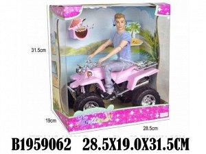 Кукла 68236 Кен на квадроцикле с аксесс. в кор.