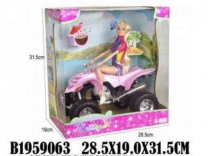 Кукла 68237 на квадроцикле с аксесс. в кор.