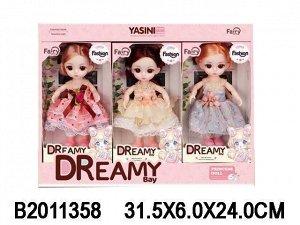 Кукла 6637 Женя 3 шт. микс. в кор.
