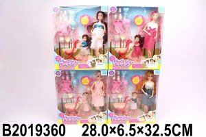 Кукла 218-APX Мама с дочкой и аксесс в кор.