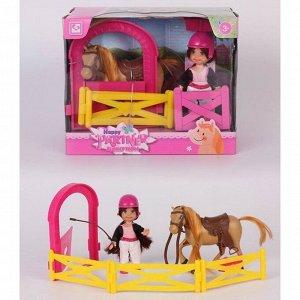 Кукла малышка 899-106K с лошадкой в кор.