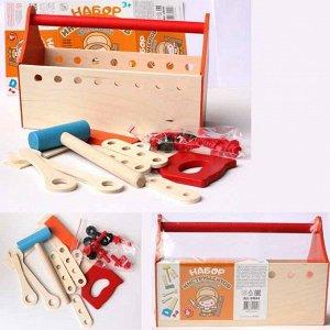 Набор инструментов ( молоток , пила , ключ , отвертка , уголок , болты , гайки , плашки ) 04044