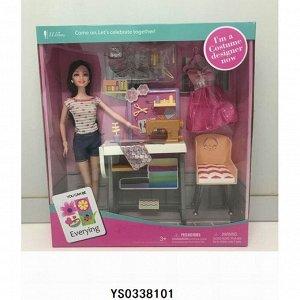 Кукла 200-86JX Швея в кор.