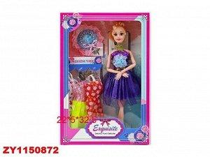 Кукла 602-5 с платьями в кор.