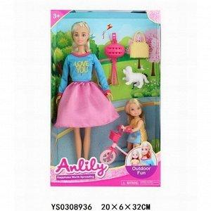 Кукла 99275 Anlily прогулка с дочкой в кор.