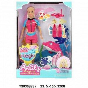 Кукла 99296 Anlily водолаз с дельфином в кор.