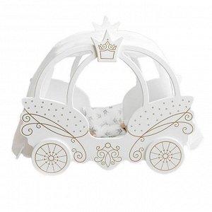 Кровать для кукол Shining Crown белоснежный шелк