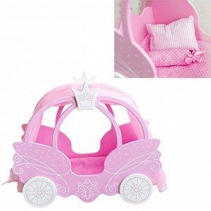 Кровать для кукол Shining Crown розовое облако