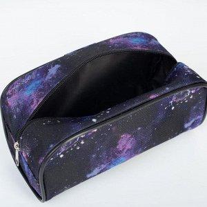 Косметичка дорожная, отдел на молнии, цвет чёрный, «Космос»