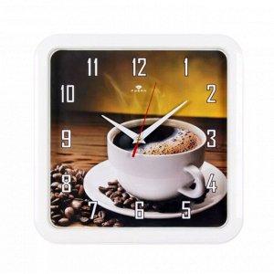 """Настенные часы """"Черный кофе"""" / 29 x 29 см"""
