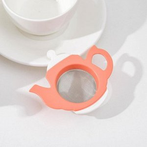 Ситечко для чая QLux, 9?8?2,5 см, цвет МИКС