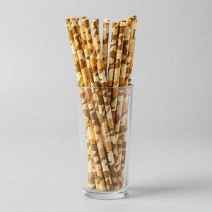 Трубочки для коктейля «Камуфляж», набор 25 шт.