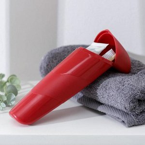 Футляр для зубной пасты и щётки QLux, 21?6,5?3,5 см, цвет МИКС