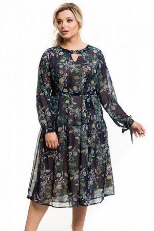 Платье 1134 темно-синий