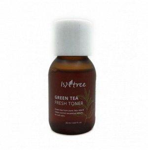 Isntree Green Tea Fresh Toner Освежающий бесспритовый тонер на основе зеленого чая 80%, 20мл