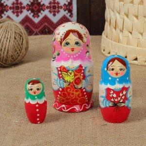"""Матрёшка 3-х кукольная """"Пасха"""", 10-11 см"""