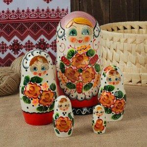 "Матрёшка5 -ти кукольная ""Алёна"" узоры,  17-18 см"
