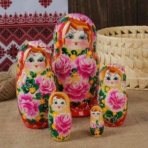 """Матрёшка 5 -ти кукольная """"Марина"""" розы,  17-18 см"""