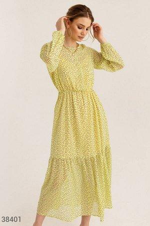 Желтое платье в звездный принт