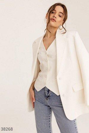 Стильный пиджак молочного оттенка